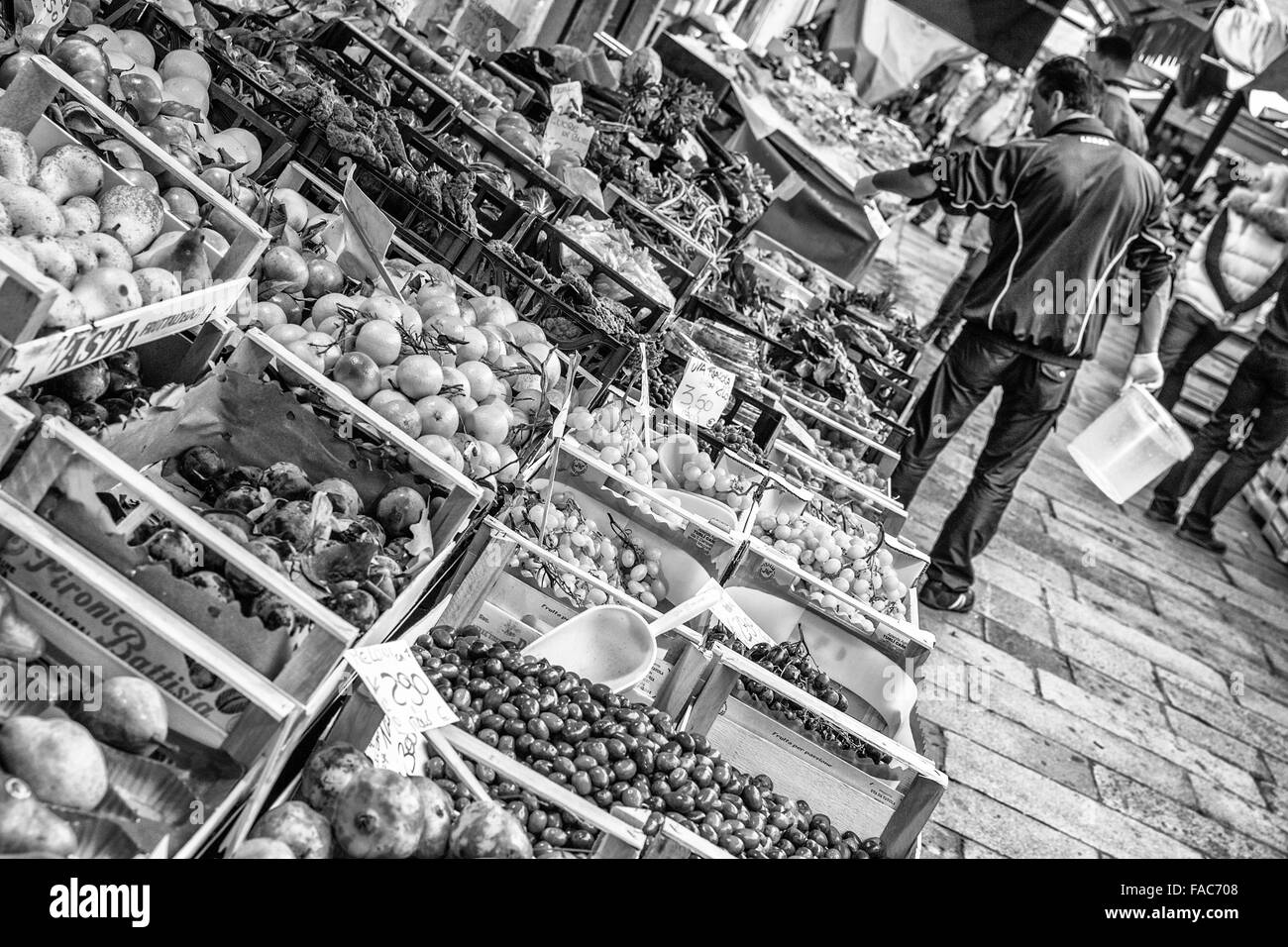 Rialto Fruit and Vegetables Market, Venice - Stock Image