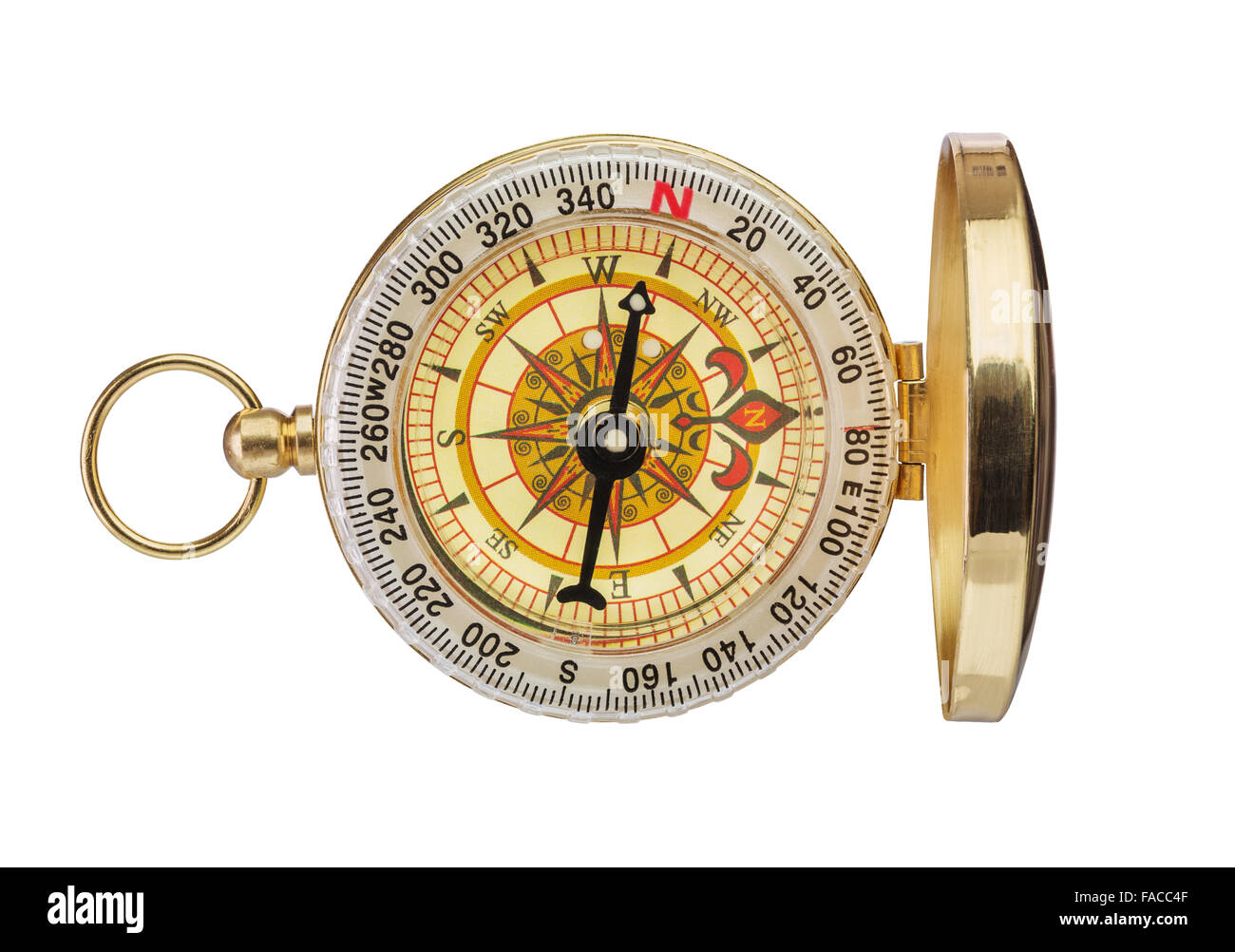 Old Vintage Retro Brass Compass Stock Photos & Old Vintage