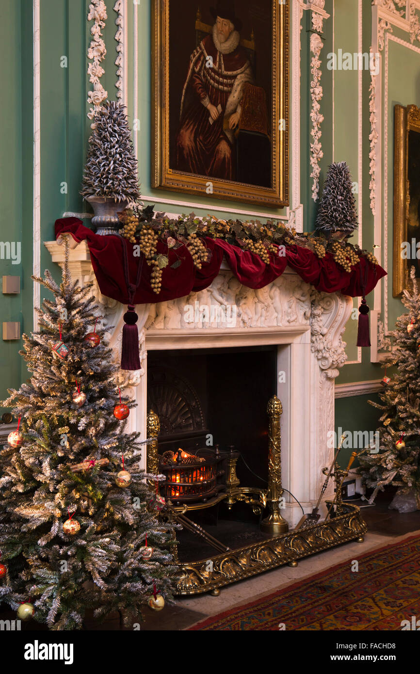 Uk England Cheshire Knutsford Tatton Hall Christmas Decorations Stock Photo Alamy