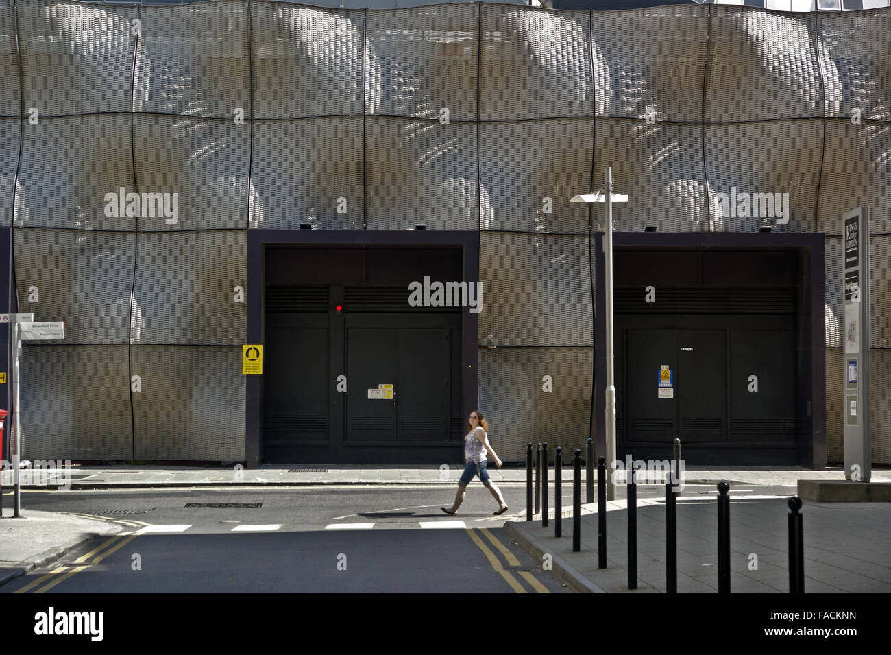 Modernist architecture building in London - Stock Image