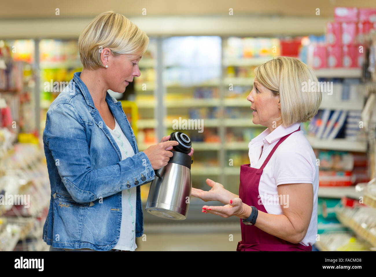 Customer complained about a thermos Stock Photo: 92477876
