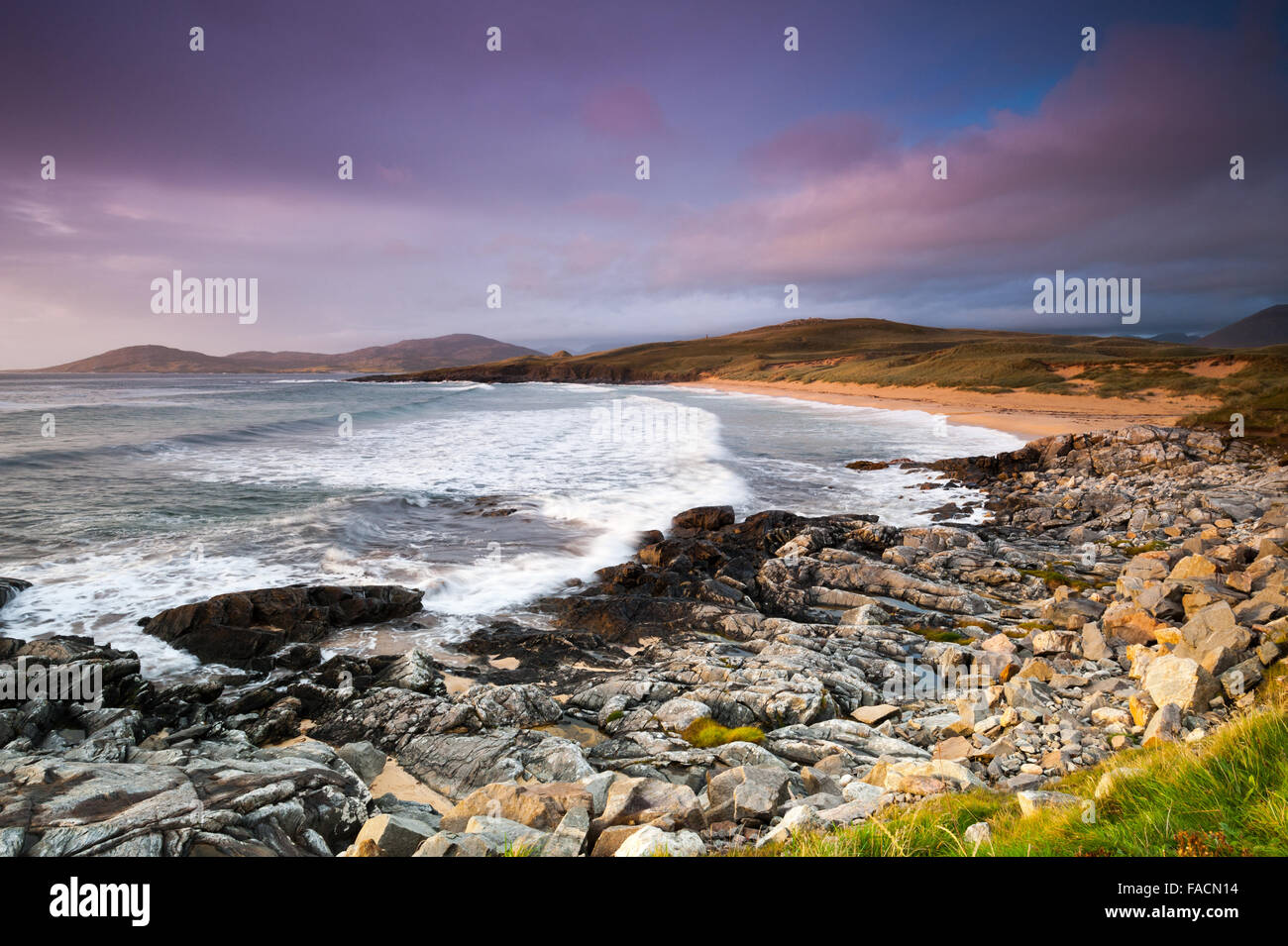 Early evening in the West coast of Scotland - Stock Image