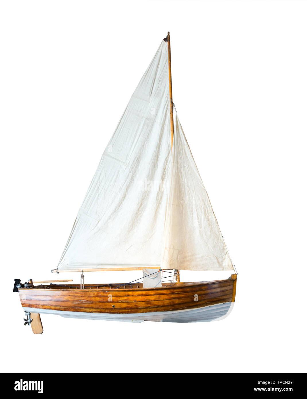 Motor boat, isolated on white - Stock Image