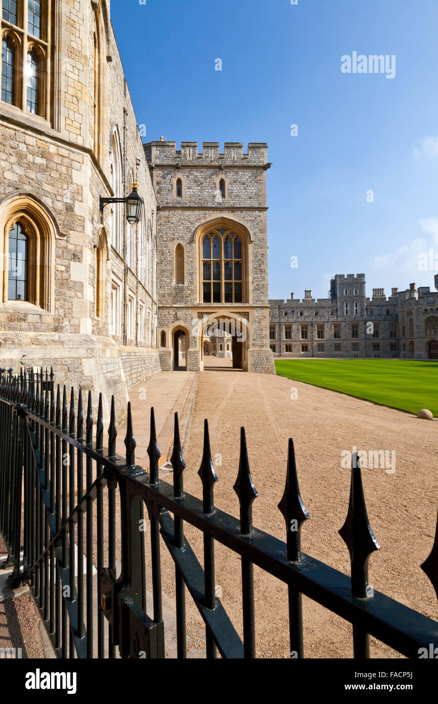The State Apartments and State Entrance at Windsor Castle, Berkshire, England, UK - Stock Image