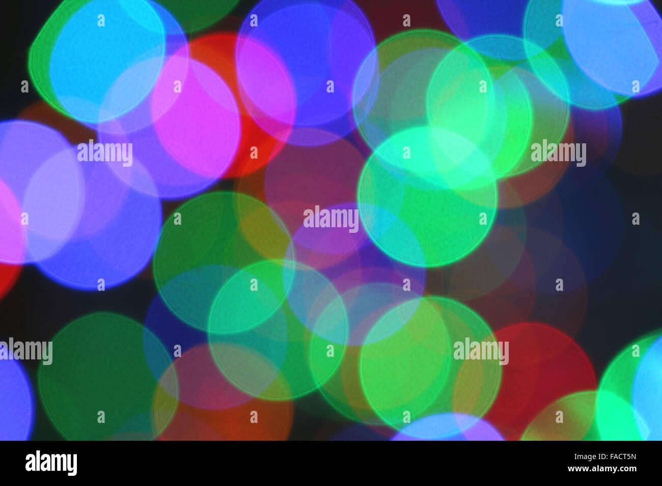 Abstract, Christmas lights. - Stock Image