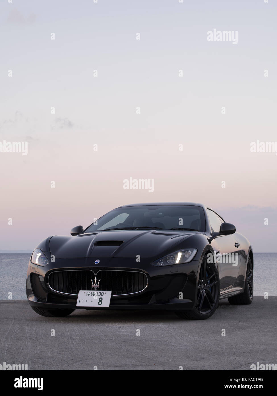 Maserati GranTurismo MC Stradale (2015 model) Italian Sports car assembled Modena, Italy. Pininfarina designed. - Stock Image