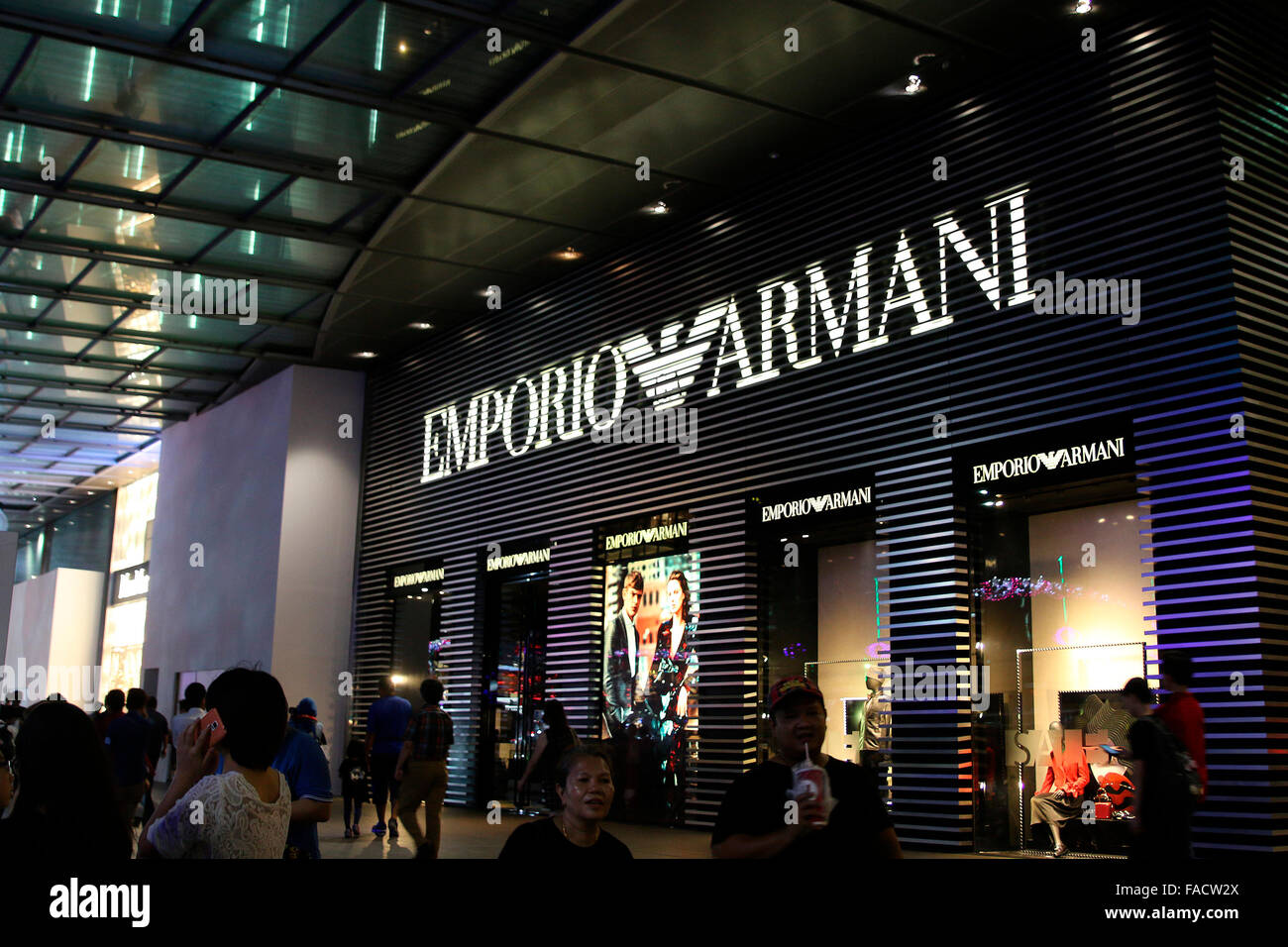 Emporio Armani Store at Orchard Street - Stock Image