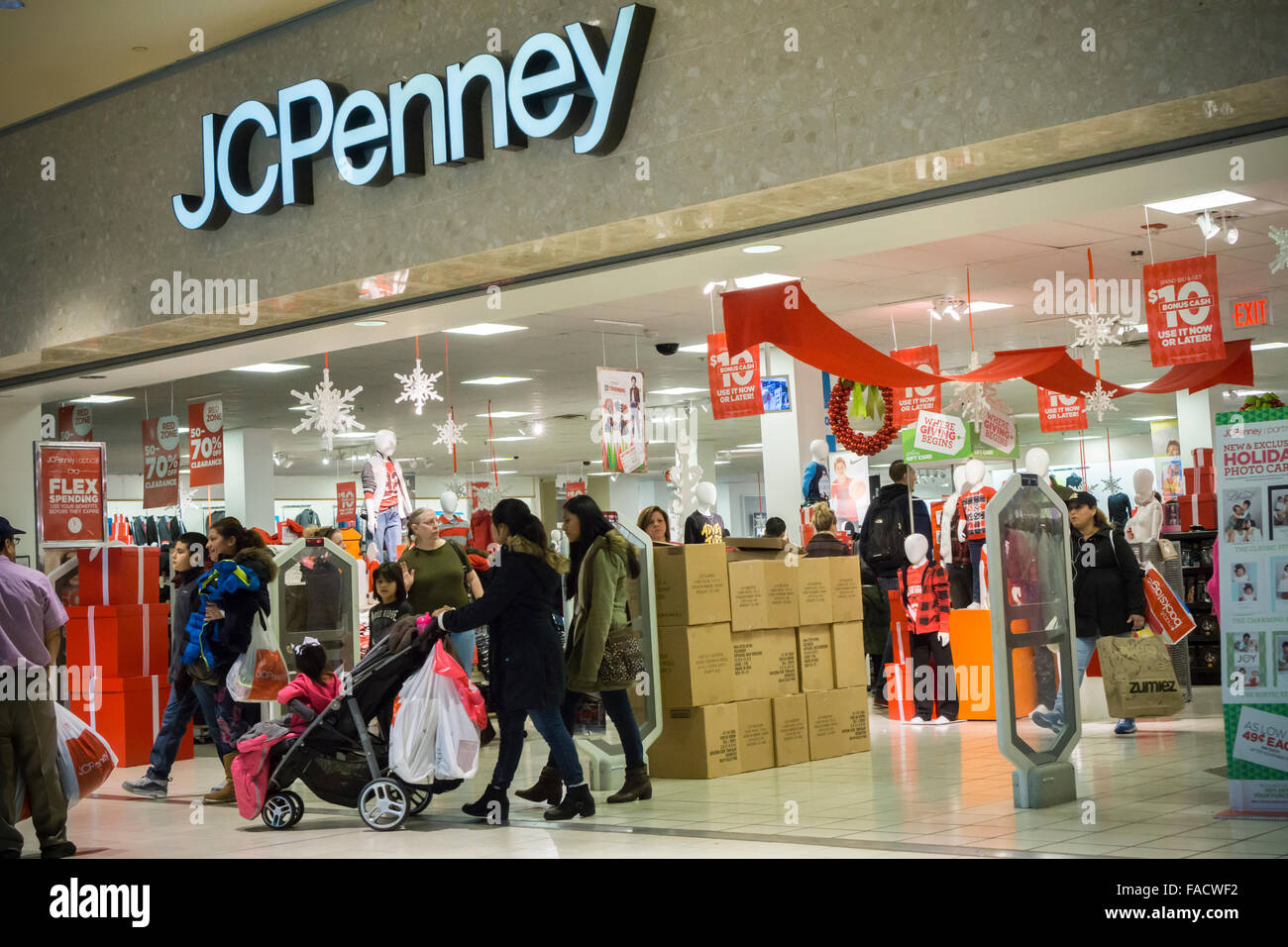 8327e86290 The JCPenney store in the Queens Center Mall in the borough of Queens in New  York on the so-called Super Saturday