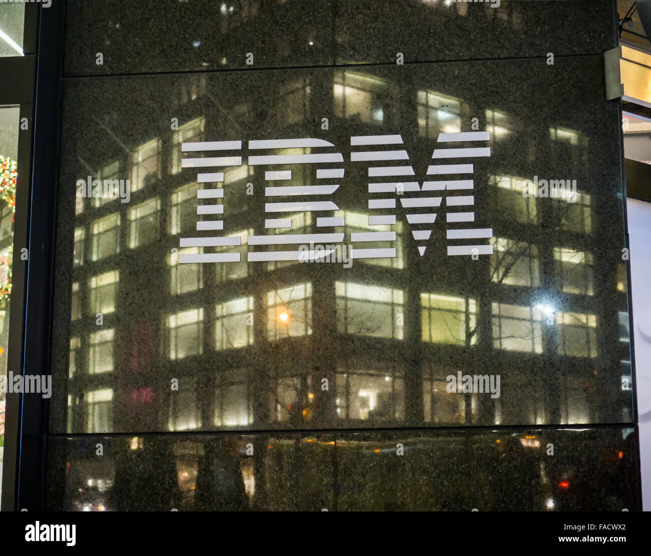 The IBM logo is seen on their