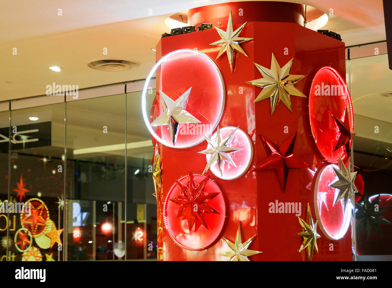 Christmas and New Year decorations at Orchard Street in Singapore Stock Photo