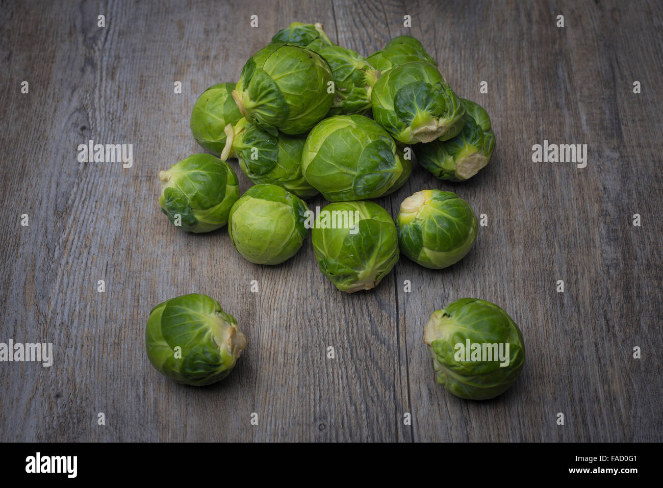 pile of brussel sprouts - Stock Image