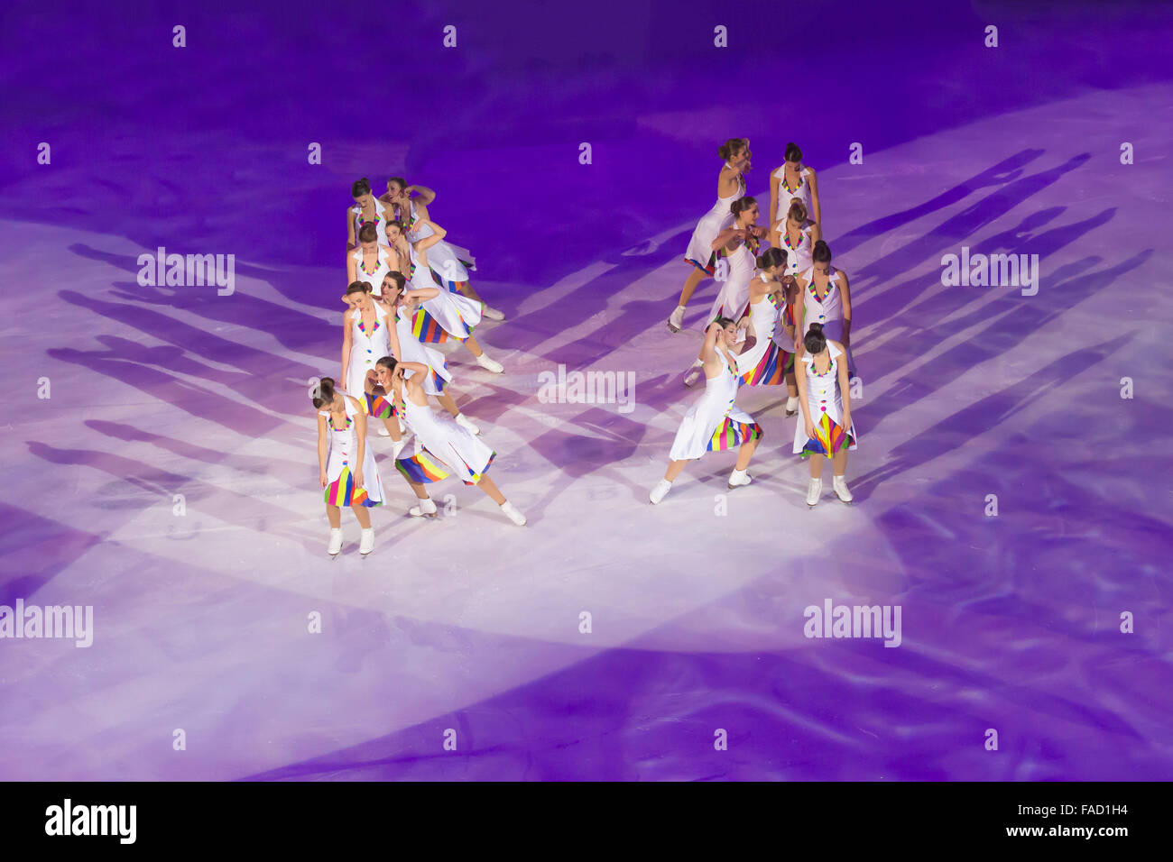 Hot Shivers, Italian Synchronized  Skating Team - Stock Image