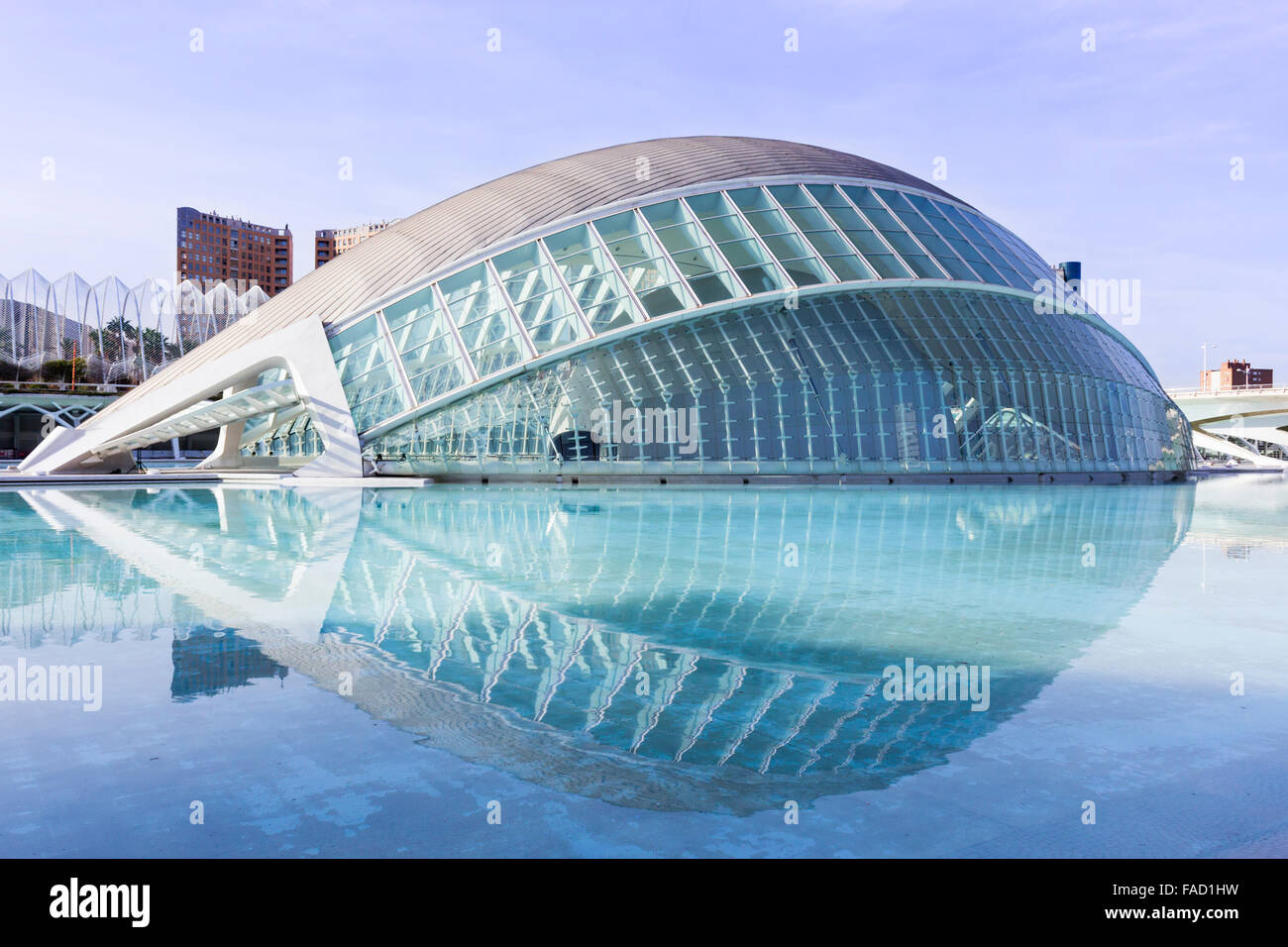 Valencia, Spain. The City of Arts and Sciences.  L'Hemisfèric. - Stock Image