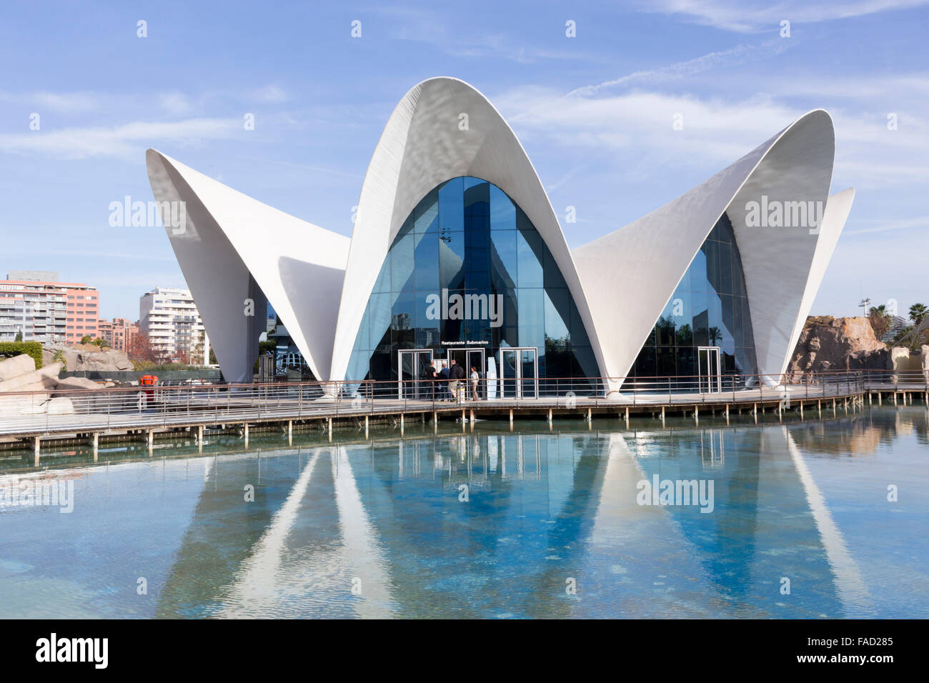 Valencia, Spain. The City of Arts and Sciences. L'Oceanogràfic. - Stock Image