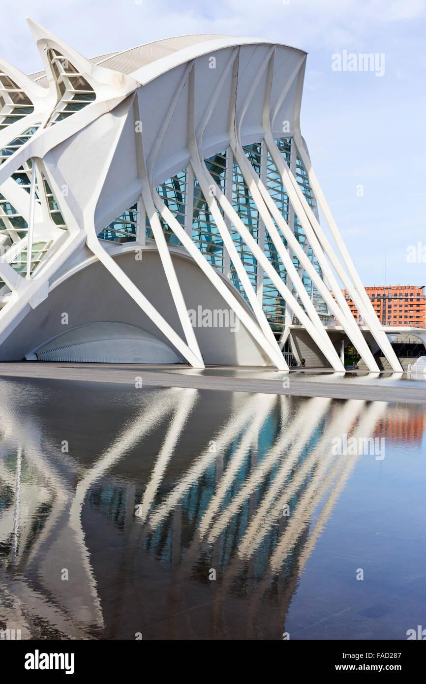 Valencia, Spain. The City of Arts and Sciences, El Museu de les Ciències Príncipe Felipe. - Stock Image