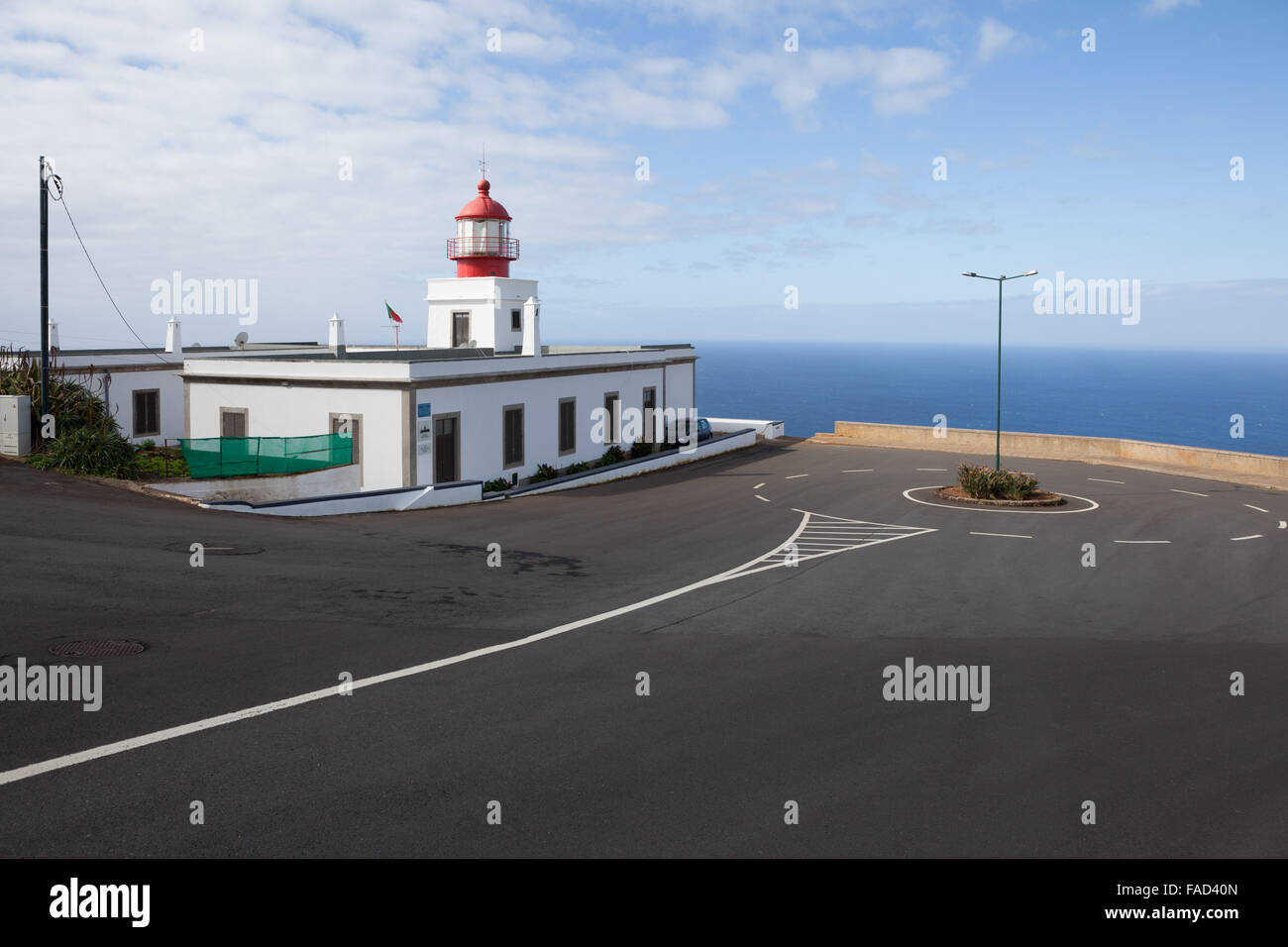 The Ponta do Pargo Lighthouse, located in Ponta Vigia, on the island's westernmost cape. Ponta do Pargo, Madeira - Stock Image