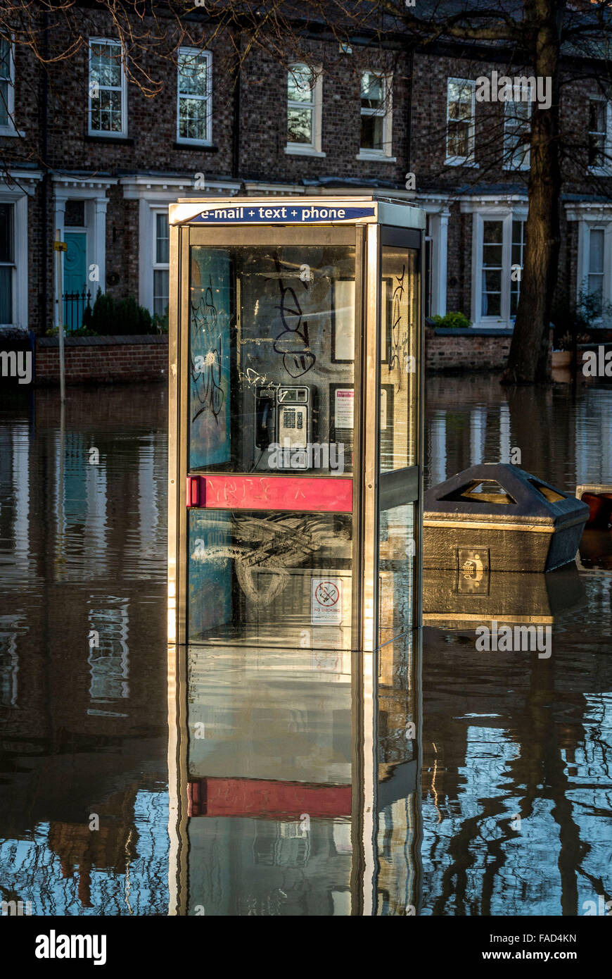 York, UK. 27th December, 2015. Widespread disruption continues in York due to flooding of the River Ouse and River Stock Photo
