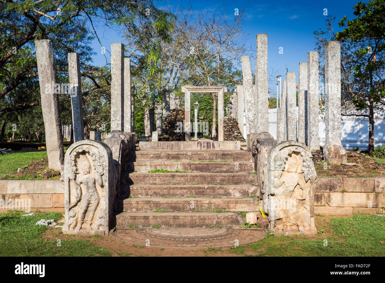 Ruins of Sacred City of Anuradhapura, UNESCO World Heritage Site, North Central Province, Sri Lanka, Asia Stock Photo