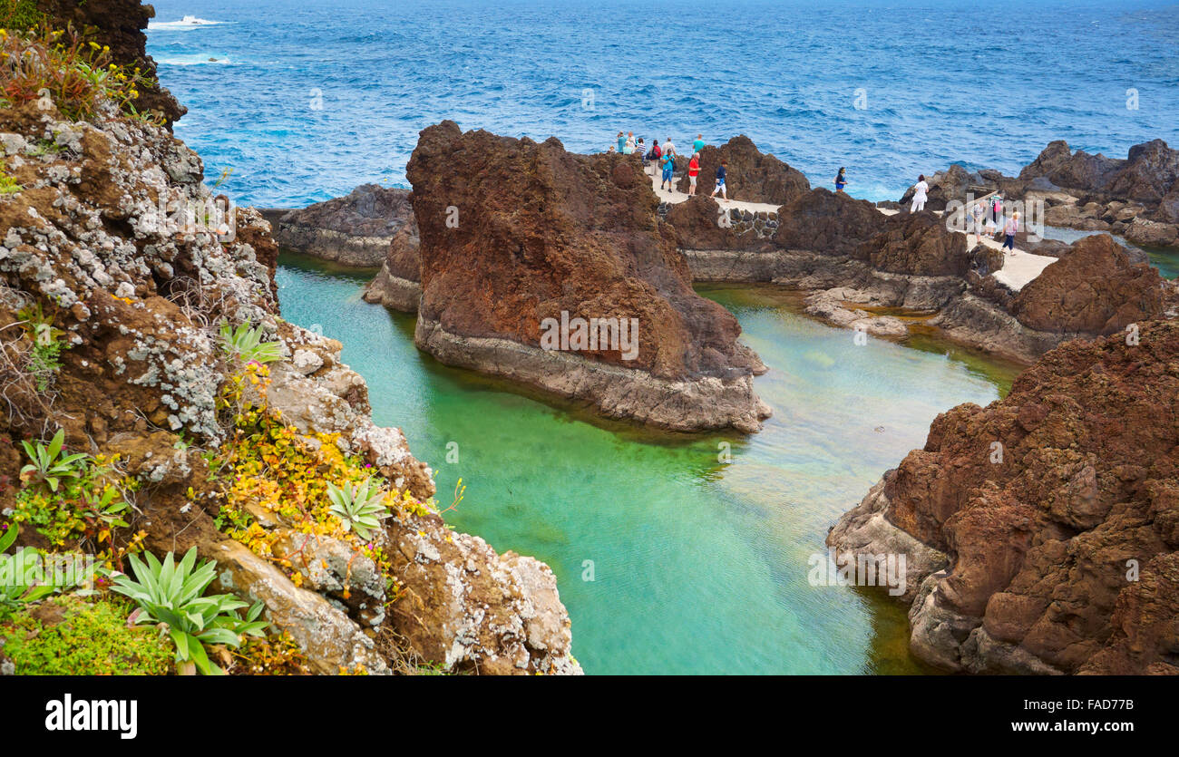 Pictures Of Swimming Pools Swimming Pool With Ocean Water Porto Moniz Madeira
