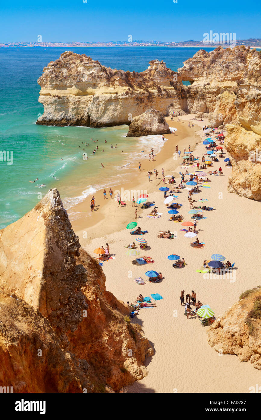 Prainha Beach near Alvor, Algarve, Portugal - Stock Image