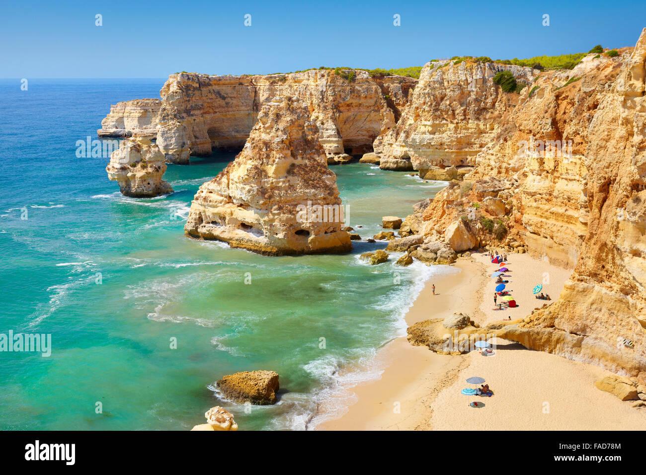 Praia da Marinha Beach, Algarve, Portugal - Stock Image