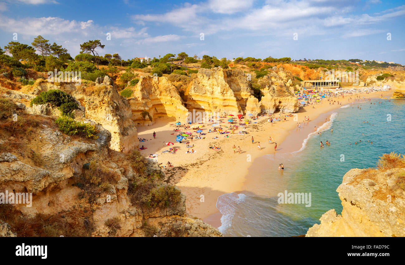 Algarve coast near Albufeira, Portugal - Stock Image