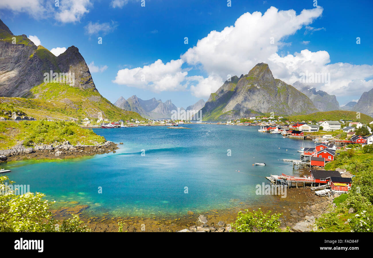Lofoten Islands, Reine, Moskenes, Norway - Stock Image