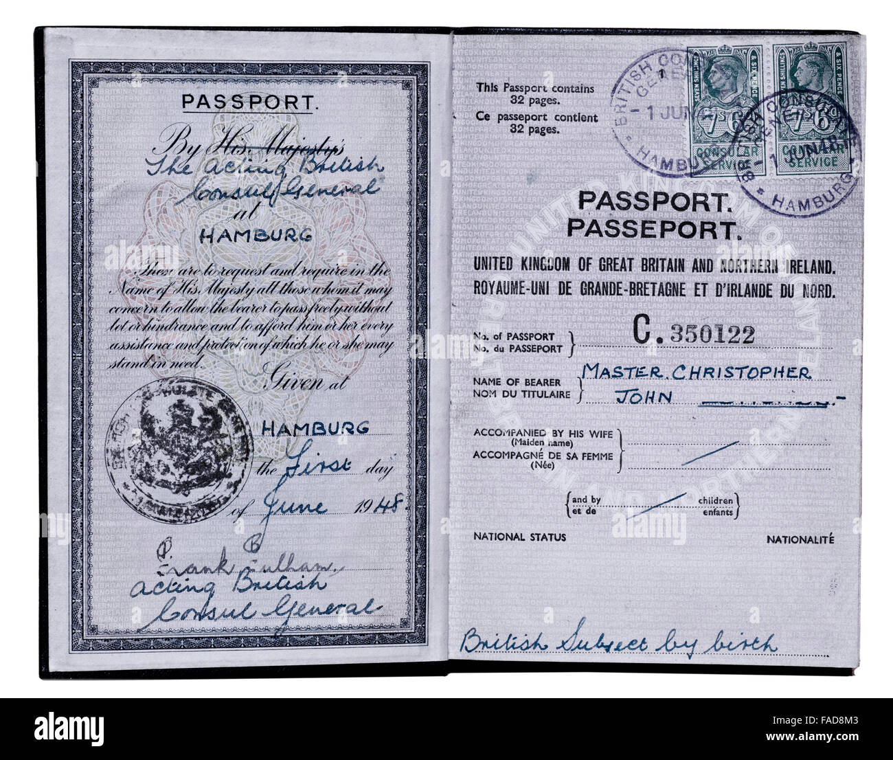 Cover Dining Room Chairs Inside Cover Old Style Uk Passport Issued At Hamburg