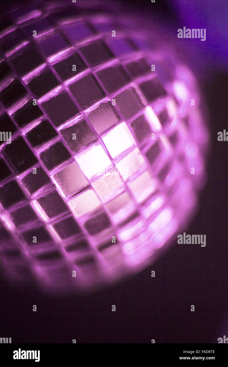 Disco ball in dance music wedding reception party in nightclub with ...