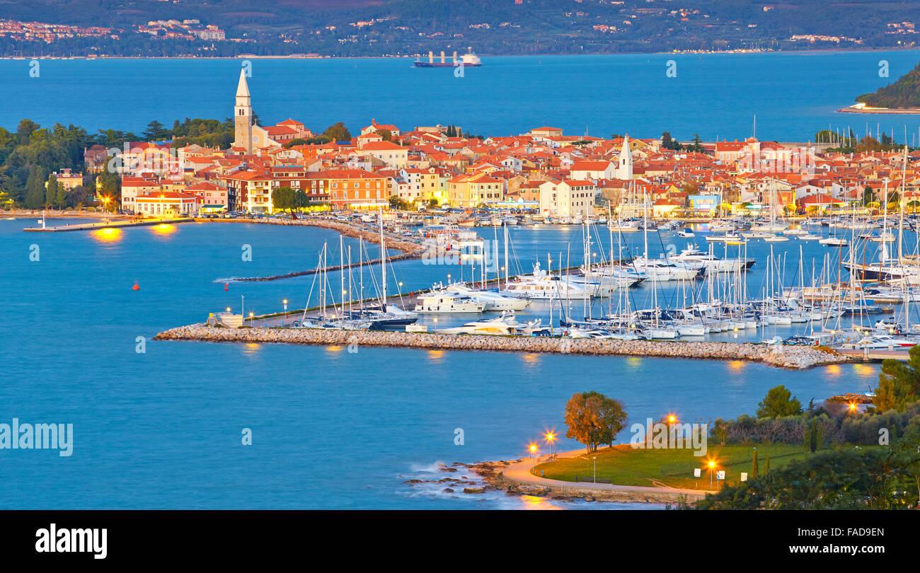 Harbor at Izola, Slovenia Stock Photo