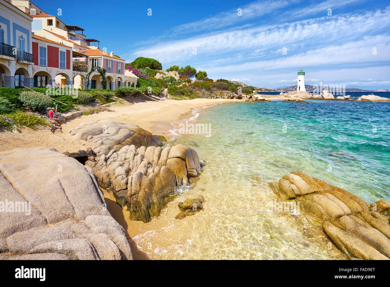 Palau Beach, Costa Smeralda, Sardinia Island, Italy - Stock Image