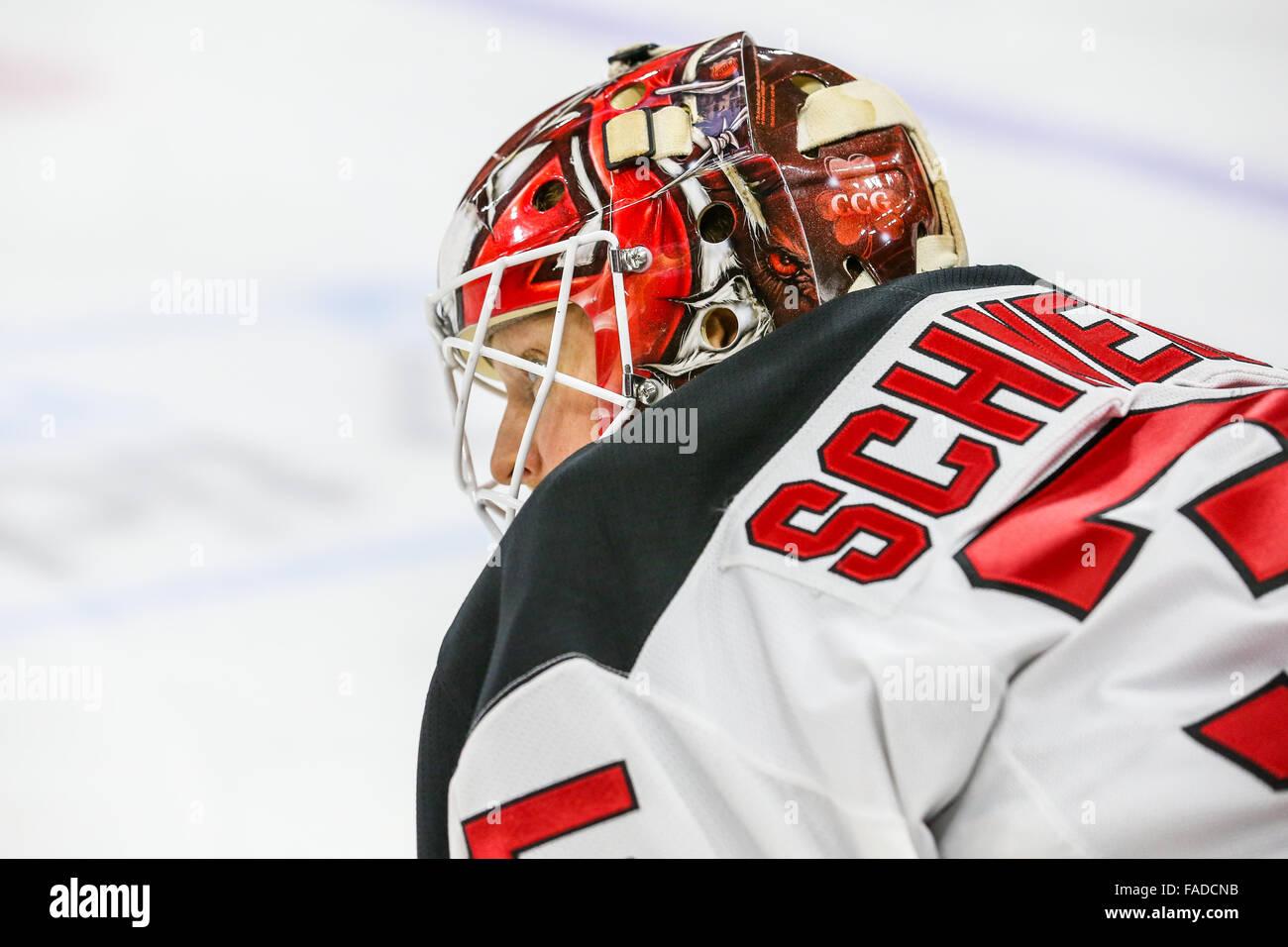 hot sale online c0475 da53b New Jersey Devils goalie Cory Schneider (35) during the NHL ...