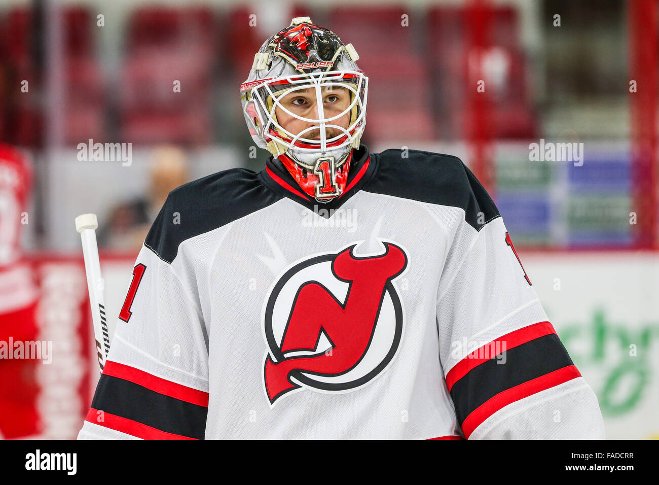 best sneakers 59cc6 446ae New Jersey Devils goalie Keith Kinkaid (1) during the NHL ...