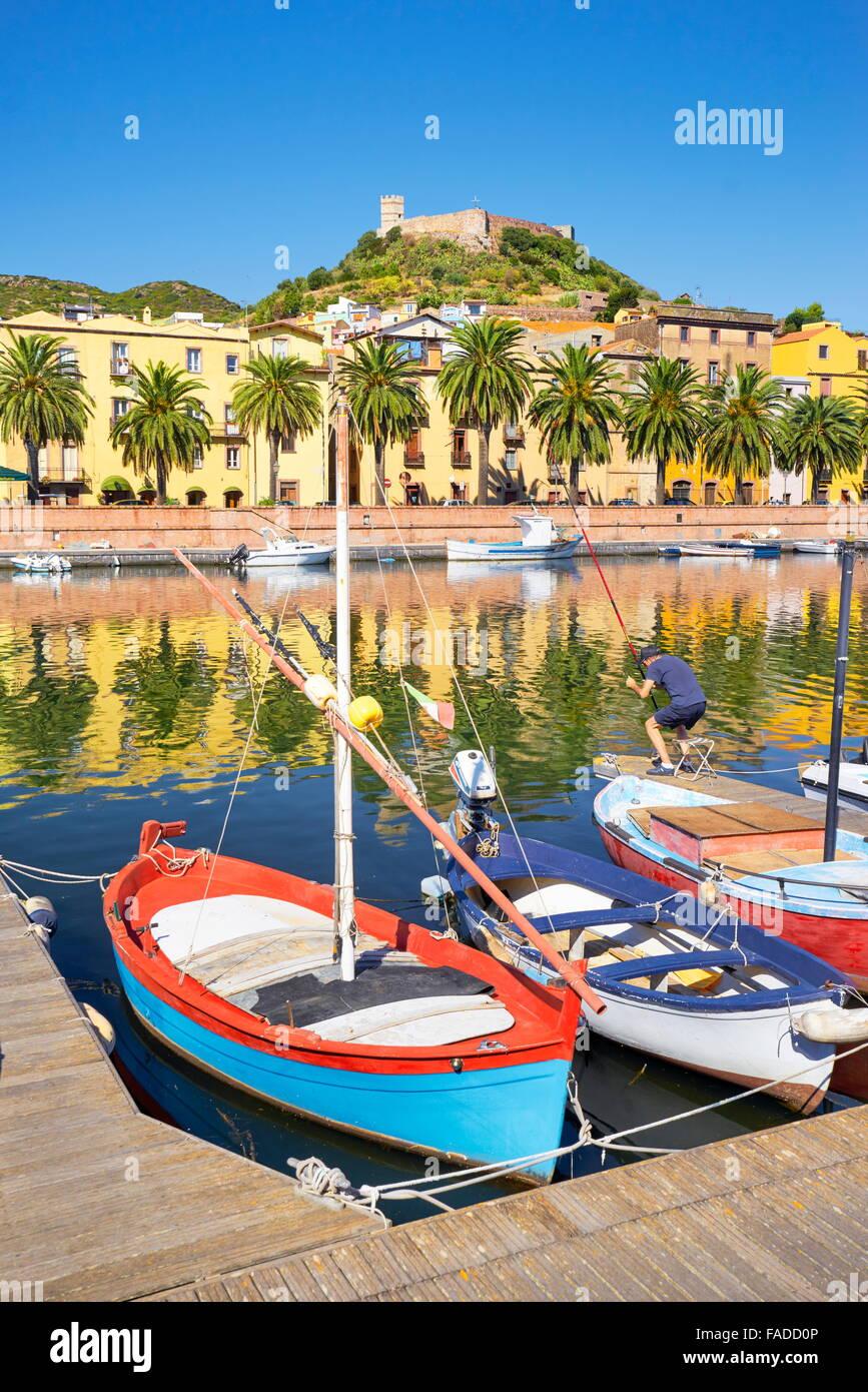 Bosa Old Town, Sardegna (Sardinia Island), Italy - Stock Image