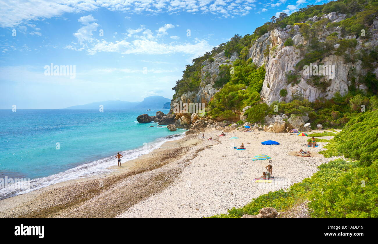 Sardinia Island - Cala Fuili Beach, Gennargentu and Orosei Gulf National Park, Italy - Stock Image