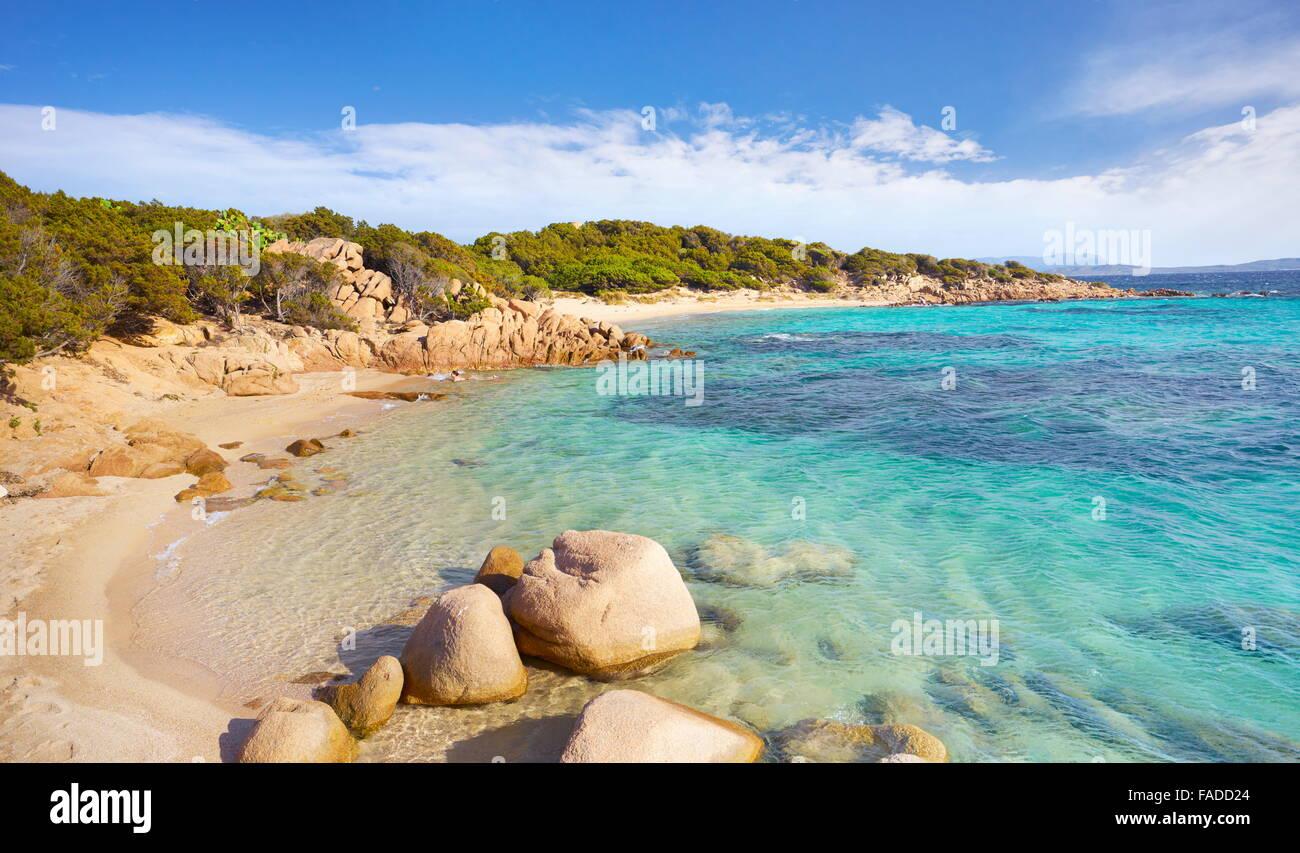 Costa Smeralda - Punta dei Capriccioli Beach, Sardinia Island, Italy - Stock Image