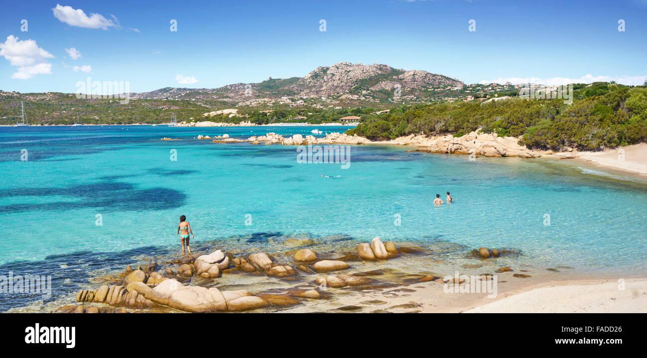 Sardinia Island, Punta dei Capriccioli, Costa Smeralda, Italy - Stock Image