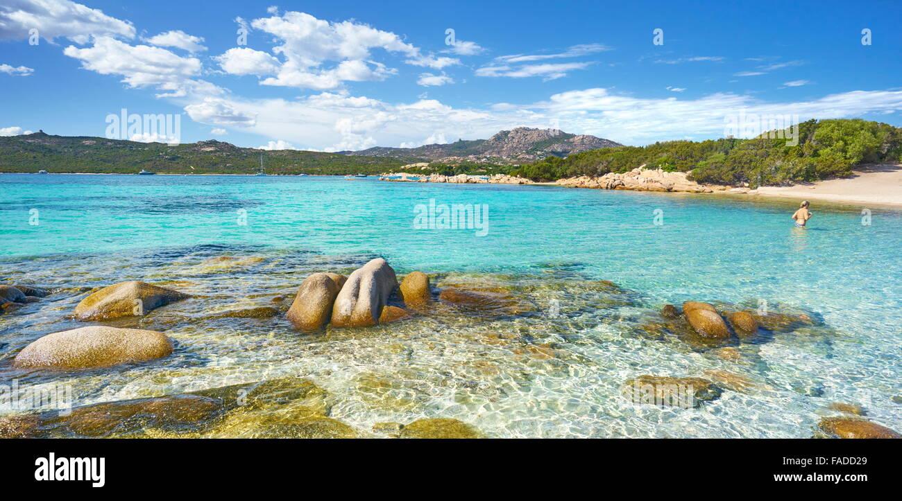 Costa Smeralda, Punta dei Capriccioli Beach, Sardinia Island, Italy - Stock Image