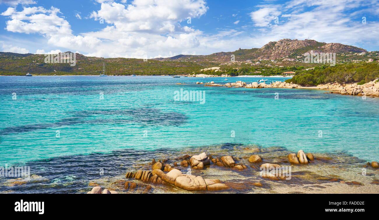 Punta dei Capriccioli Beach, Costa Smeralda, Sardinia Island, Italy - Stock Image