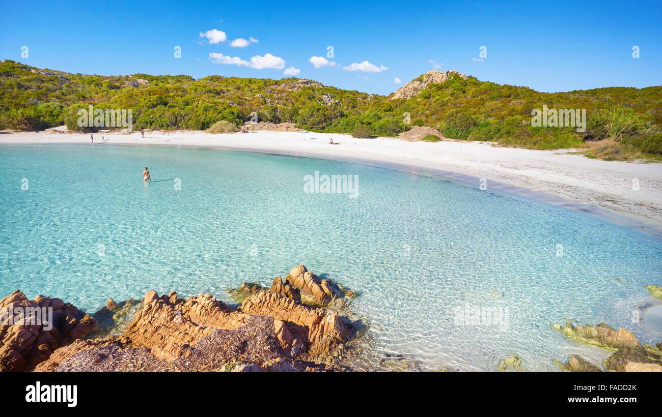 Costa Smeralda Beach, Sardinia Island, Italy - Stock Image
