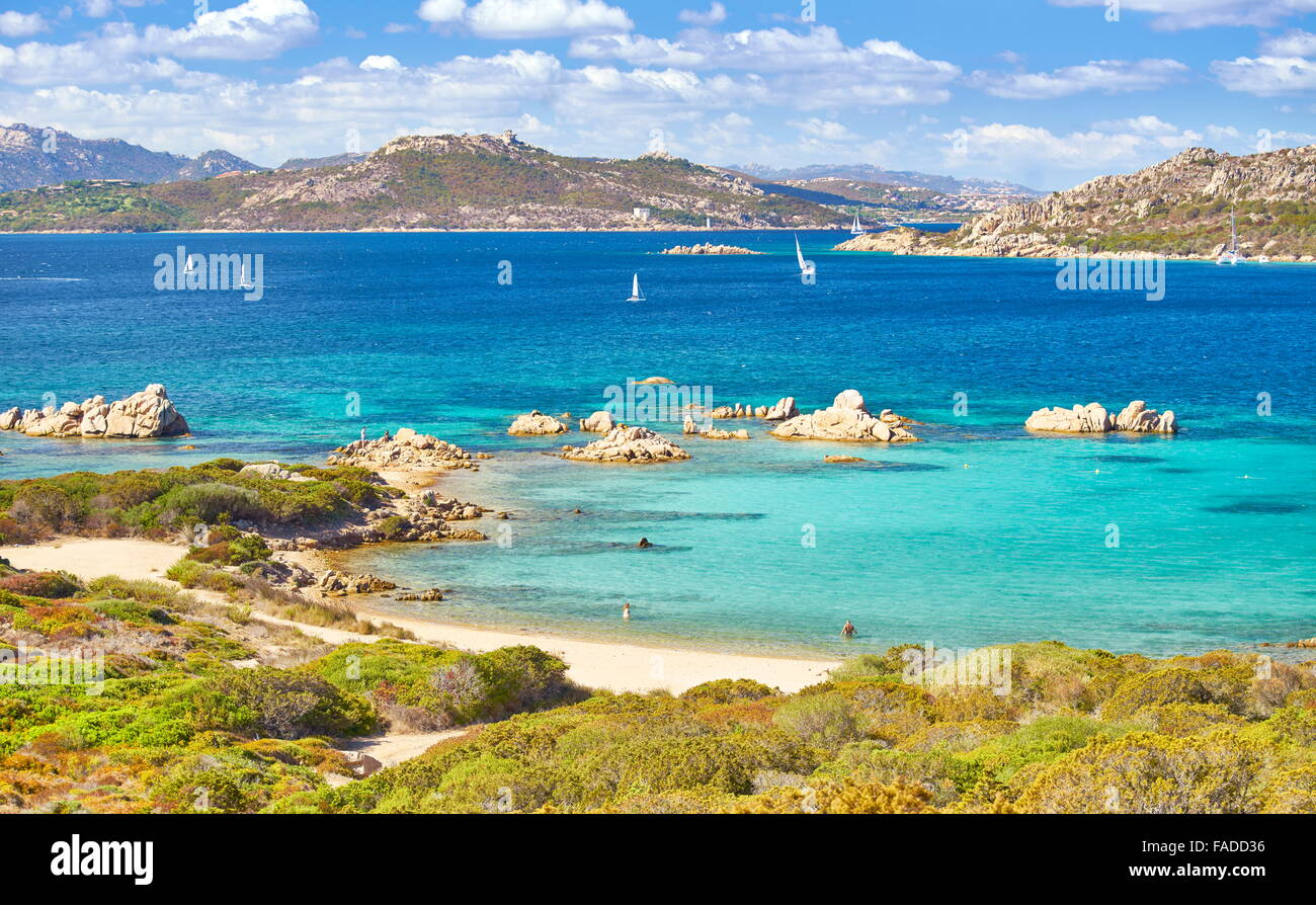 Caprera Island, La Maddalena Archipelago National Park, Sardinia, Italy - Stock Image
