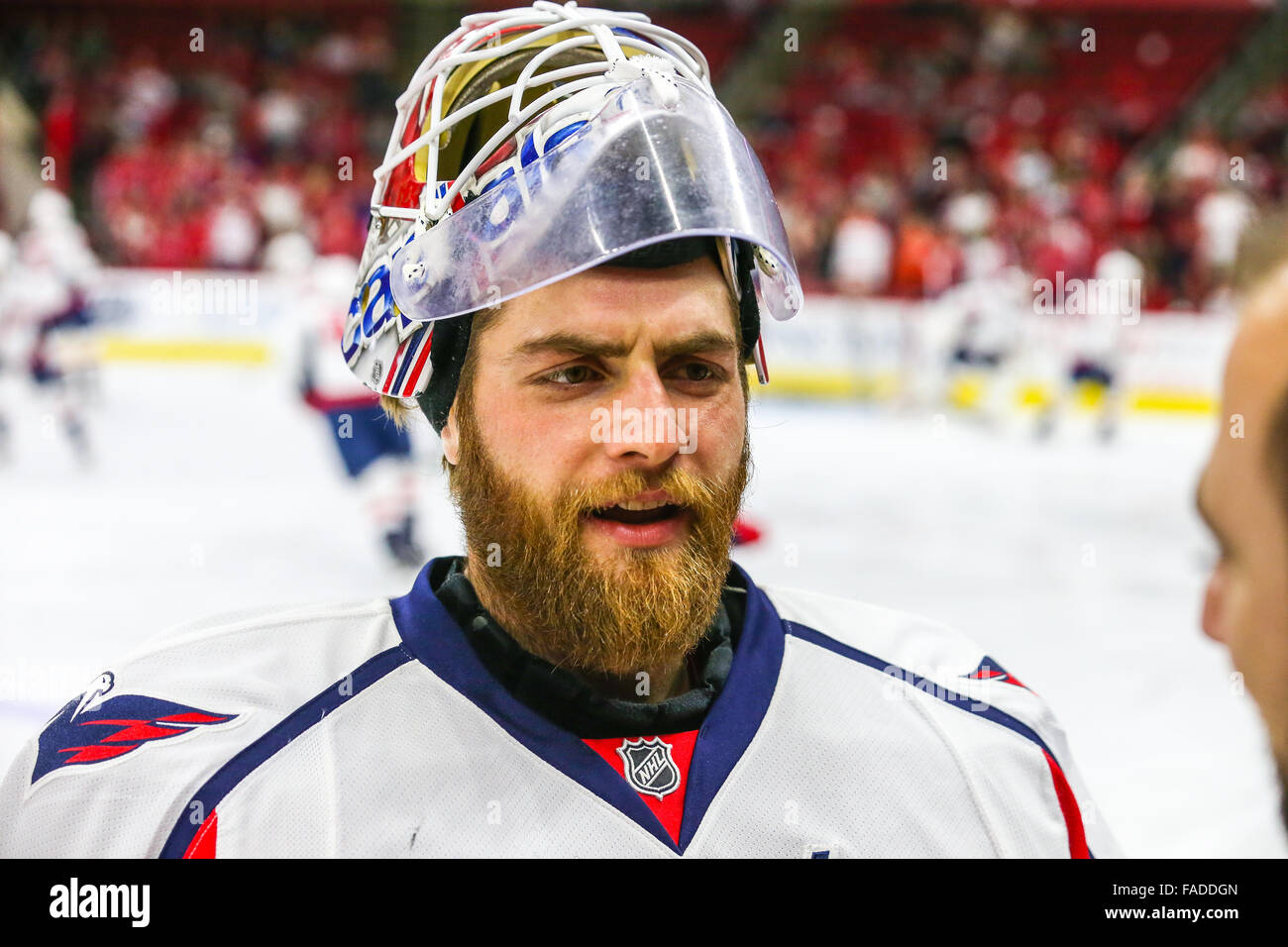 Washington Capitals Goalie Braden Holtby 70 During The Nhl Game Stock Photo Alamy