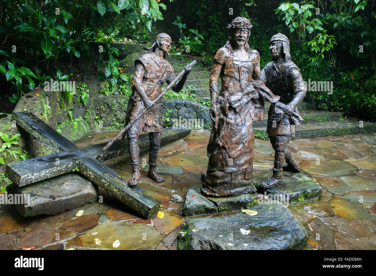 Stations of the Cross statues in Tomohon, North Sulawesi, Indonesia. - Stock Image