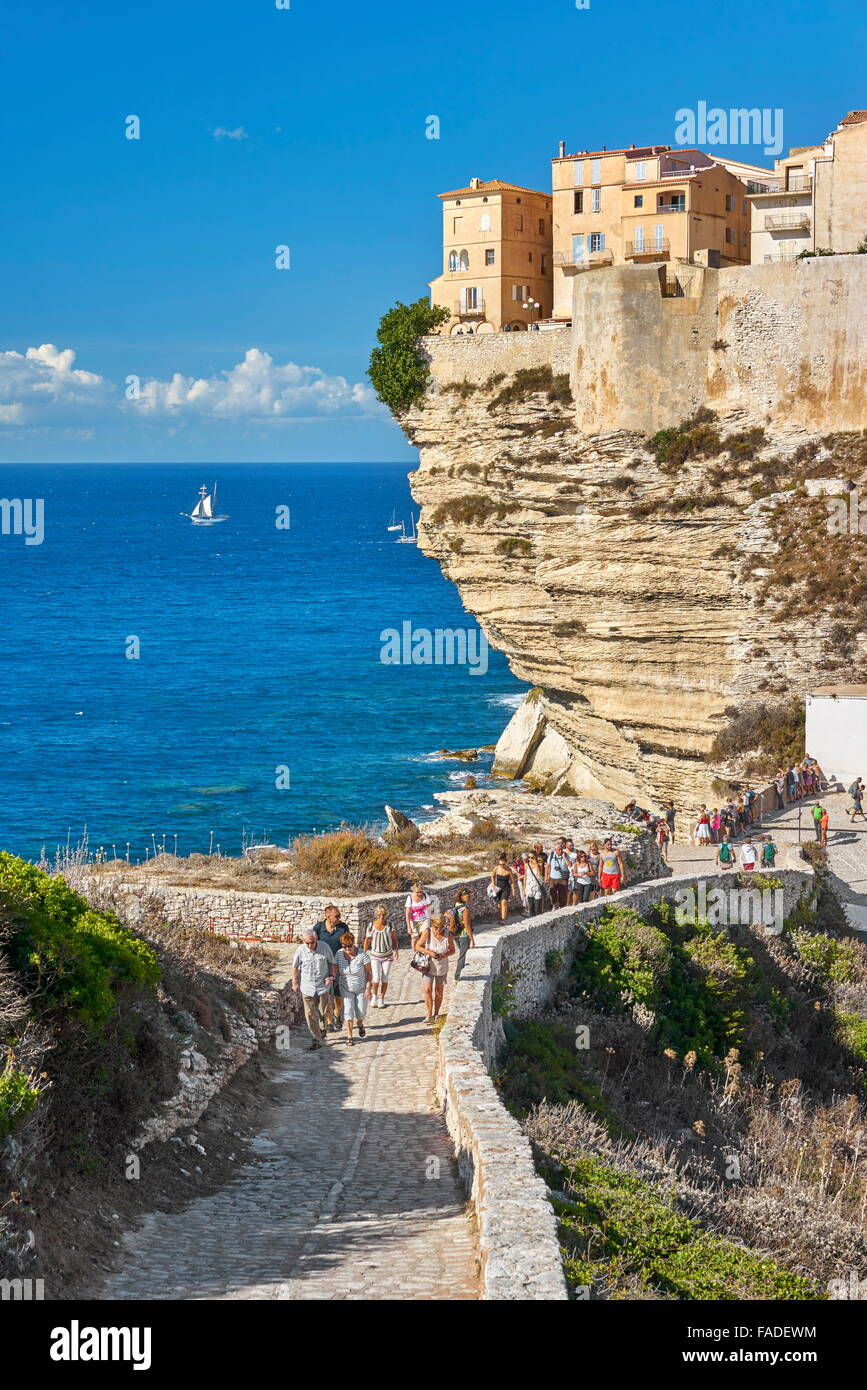 Bonifacio, South Coast of Corsica Island, France - Stock Image