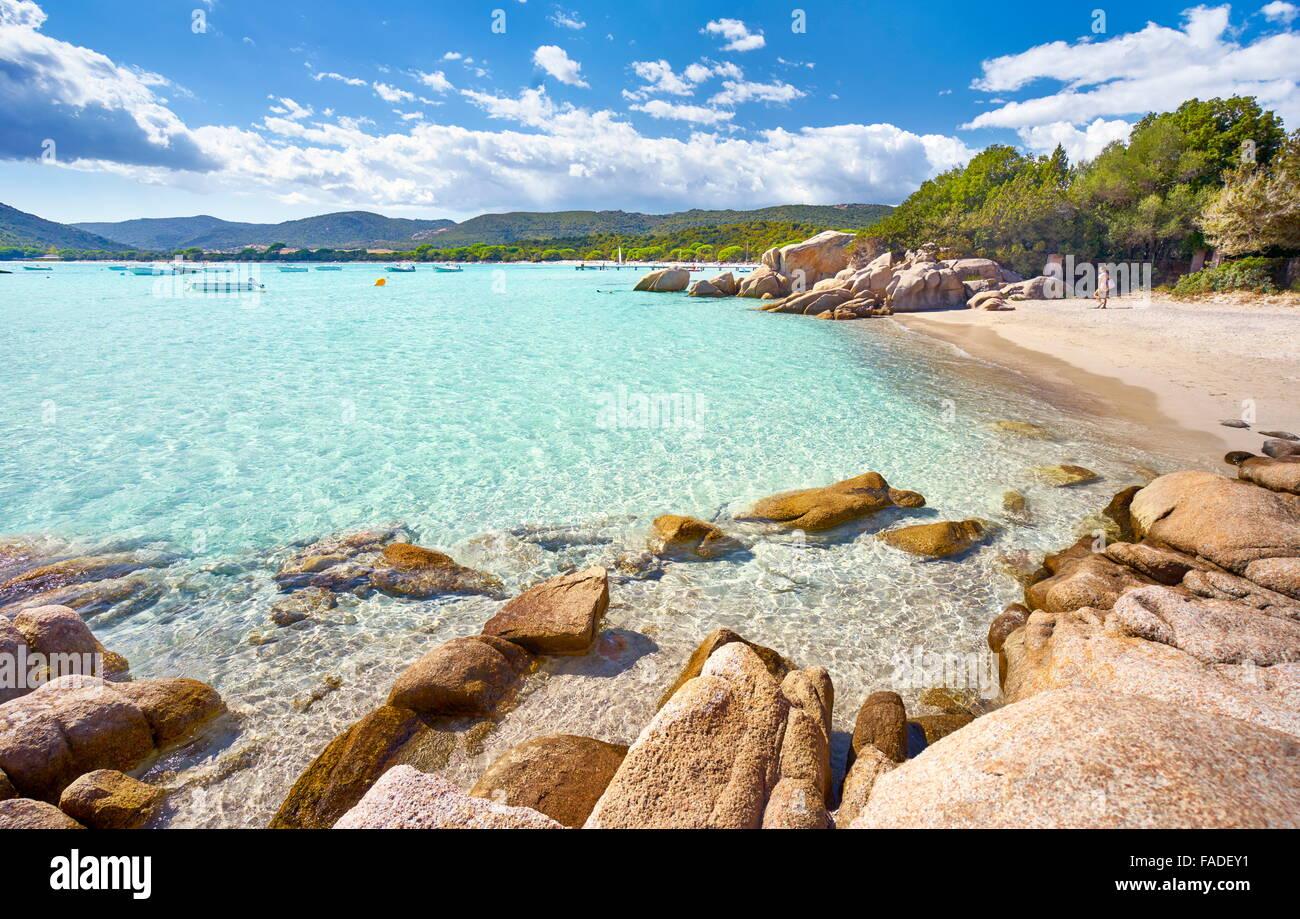 Corsica Island - Santa Giulia Beach, Porto-Vecchio, East Coast, France - Stock Image