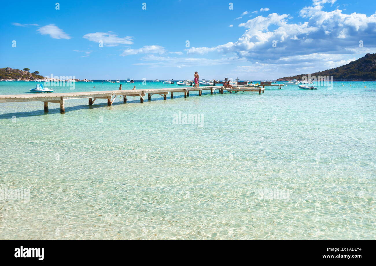 Santa Giulia Beach, Porto-Vecchio, East Coast of Corsica Island, France - Stock Image