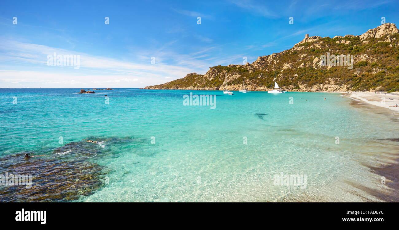 Roccapina Beach, Golfe de Roccapina, South-West Coast, Corsica Island, France - Stock Image