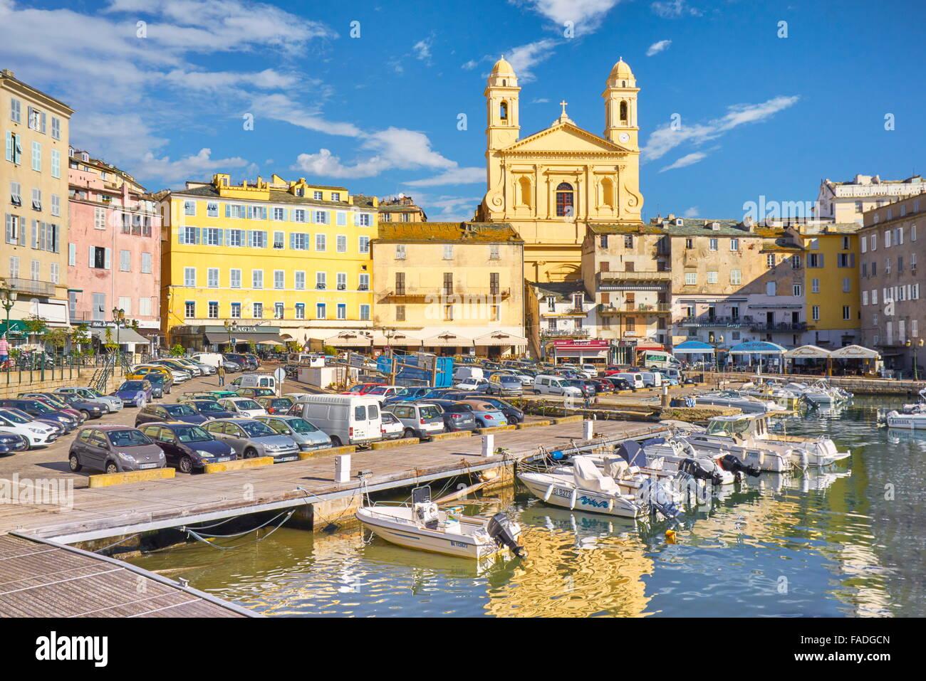 Corsica Island, Bastia Port, France - Stock Image