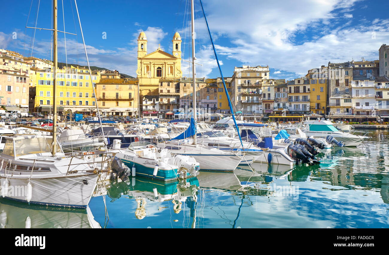 Bastia Port, Corsica Island, France Stock Photo