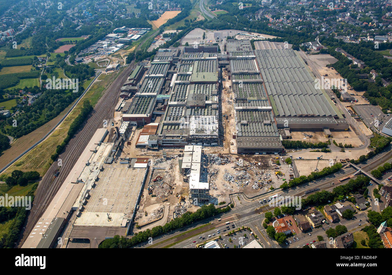 Aerial view, demolition Opel plant 1, OPEL, structural change, Automotive, Car repair, Bochum, Ruhr area, North - Stock Image